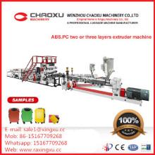 Máquina de producción plástica del extrusor de las maletas Shell de las maletas de la PC del ABS