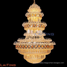 Remote Control Hotel Bulk Crystal LED Chandelier with Crystal Ball