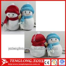 2014 moda y lindo muñeco de nieve de peluche de decoración de Navidad