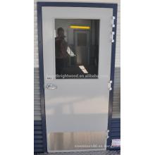 Diseño de puerta a ras de pintura gris PU para casas contenedor