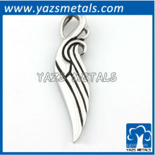 customize pendant, made silver angle swing pendant