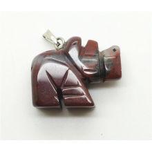 Nashorn Form Red Jaspis Anhänger