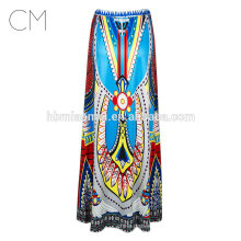 2017 Wholesale printing big skirt High Waist Tutu Skirts Women Fairy Printed Ball Gown Midi dress
