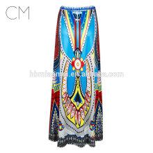2017 Оптовая печать большой юбка высокой талией пачка юбки женщин Фея печатных бальное платье MIDI платье