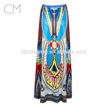 2017 En Gros impression grande jupe Taille Haute Tutu Jupes Femmes Fée Imprimé Boule Robe Midi robe