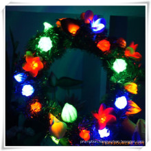 LED Artificial Flowers Wreath for Promotion