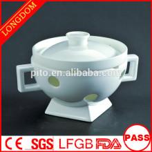 Restaurante de hotel de alta qualidade Chinês tradicional sopa de porcelana tigela tureen