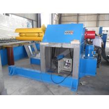 Decoiler hidráulico automático de alta velocidad de 10 toneladas con carro de la bobina y brazo de la prensa