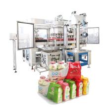 Máquina envasadora de leite e vedação de folha de alumínio