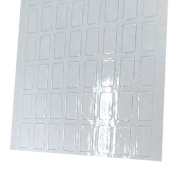 Étiquette de décoloration anti-contrefaçon eau-à-rouge