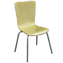 Chaise extérieure chaude de meubles de restaurant de ventes pour la chaise en bois incurvée