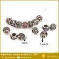 Venta caliente estilo europeo encanto cristal Metal perlas de joyería