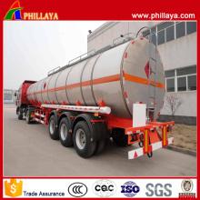 Tri Achsen-Aluminiumkraftstoff-Behälter-halb Anhänger