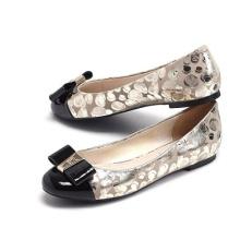 Flat bowtie dedo do pé redondo sapatos casuais (hyy02-744)