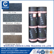 4.0mm PE surface APP asphalt waterproof roofing membrane