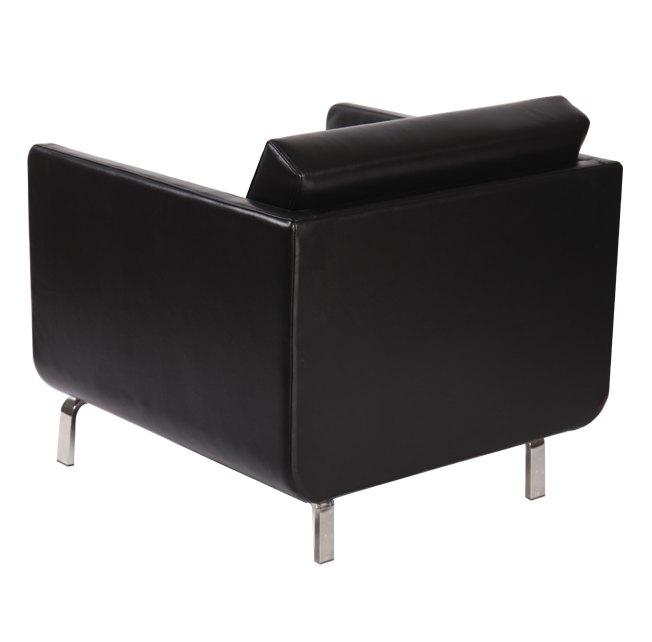 black leather gaia chair