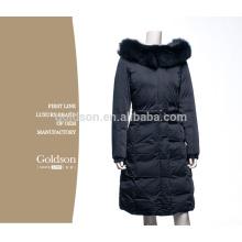 Jaqueta de mulheres elegantes para o inverno com pele de raposa de luxo
