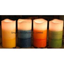 Беспламенного многослойная ароматическая свечка СИД воска для домашнего декора