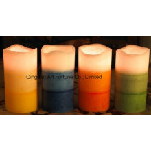 Flameless Layered Scented LED Wax Candle for Home Decor