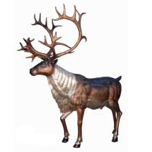 Garten Dekoration Casting Bronze Metall Handwerk Leben Größe Deer Statuen