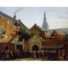 Pintura clássica da lona das pinturas do artista de Holland