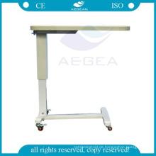 AG-OBT003 Wirtschaftliche langlebige ABS-Material Krankenhaus verstellbare Bett Tabletts