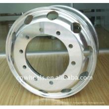 Jante de roue en aluminium 22.5X8.25, 22.5X9.00,11.75X22.5 jantes chinoises