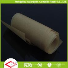 Rouleau de papier de parchemin brun non blanchi de 25FT dans la boîte de coupeur
