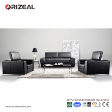 Orizeal Large Comfy Folding Black Leather Couch (OZ-OSF005)