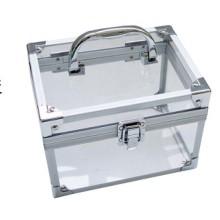 Малый квадратный алюминиевый футляр с прозрачным акрилом