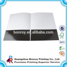 Glossy laminierte a4 Größe Papier Präsentationsmappe mit benutzerdefinierten Logo gedruckt