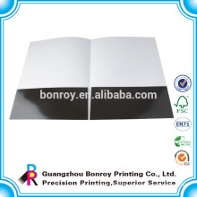 Glossy laminated a4 size paper presentation folder with custom logo printed