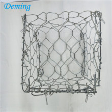 Galvanized and pvc coated woven hexagonal gabion box