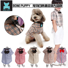 BONEPUPPY Bowtie Elengant Dog T Shirt Pet Puppy Cat Polo Shirt Apparel Clothes