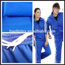100%polyester tricot brushed knit fabric for sport cloth