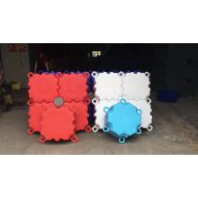 New design Hexagon small pontoon floats boat floating platform plastic pontoons manufacturer