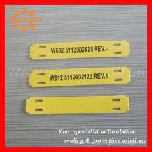 Etiquetas do marcador do cabo do uso da impressora térmica do Polyolefin