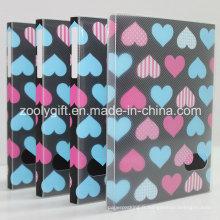 """Love Heart imprimé en plastique PP / PVC 4X6 """"Albums photos avec boîte transparente"""