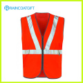 Orange Construction Safety Vest with Reflective Stripe