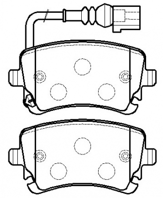 VW multivan brake pads D1018-7921