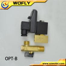 Baixa pressão normalmente fechar válvula solenóide de 220 volts de duas vias