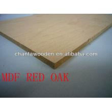 MDR contreplaqué en placage-Red Oak pour décoratif
