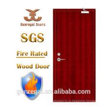Porta do fogo do apartamento da madeira de madeira BS476