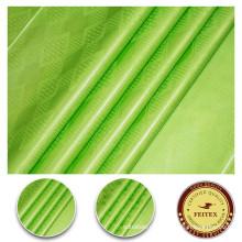 Africano bazin 100% algodón tela verde vestido material stock shadda brocado guinea