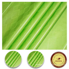Африканский базен 100% хлопок зеленый ткань платье материал Гвинея brocade shadda