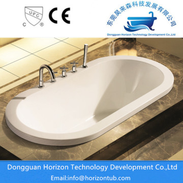 Acrylic oval-shaped drop in bathtub