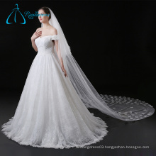 Perfect Lace Appliques Tulle Wedding Veil Long Cathedral