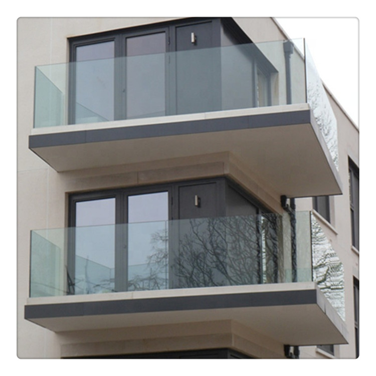 10mm Thick Frameless Outdoor Cover Balcony Railing