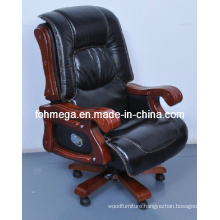 Luxury Thick Pad Swivel Executive Chair/Solid Wood Board Room Chair (FOH-1235)