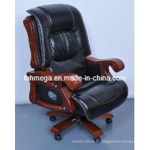 Luxo Thick Pad cadeira giratória executiva / cadeira de madeira sólida sala de reuniões (FOH-1235)